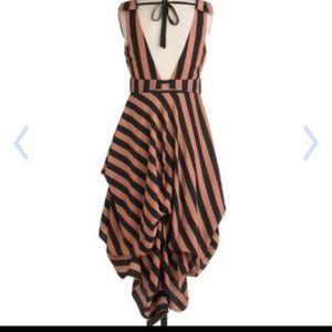handkerchief striped dress